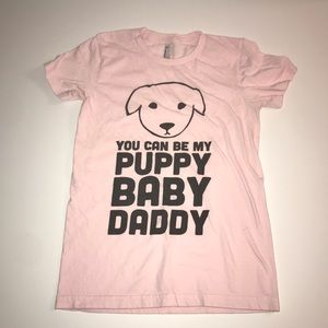 American Apparel Puppy Graphic T-Shirt (M)